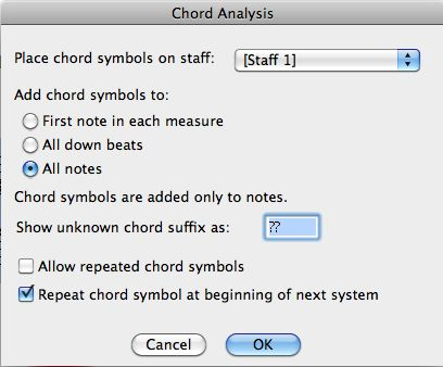 Creating Chord Symbols From Notation In Finale And Sibelius Making